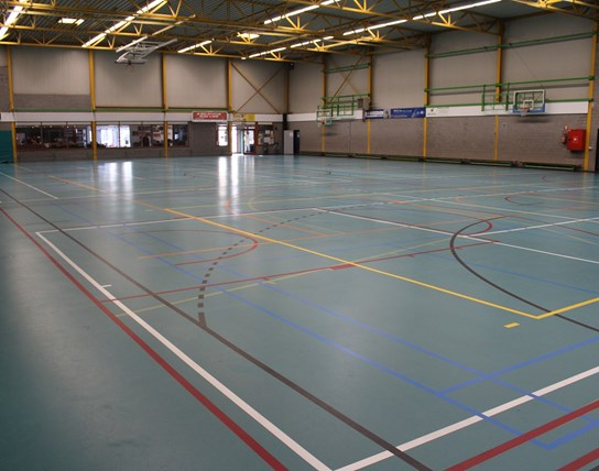 Grote zaal sporthal